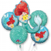 Disney Little Mermaid Foil Balloon, Pack of 5