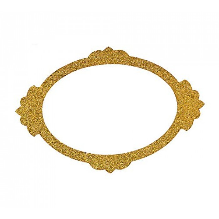 GeeksHive: Gold Glitter Picture Frame Cutouts - 3 Piece Set - 16\