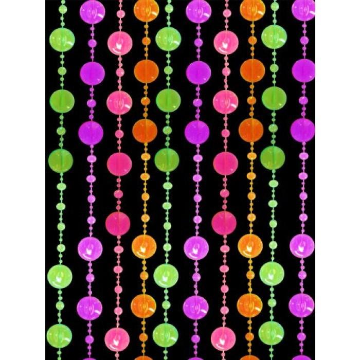 Geekshive Beaded Curtain Blacklight Reactive Multi