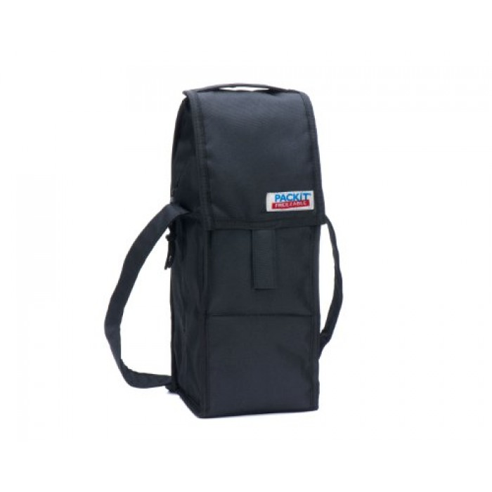 Geekshive Packit Freezable Wine Bag Single Bottle Black