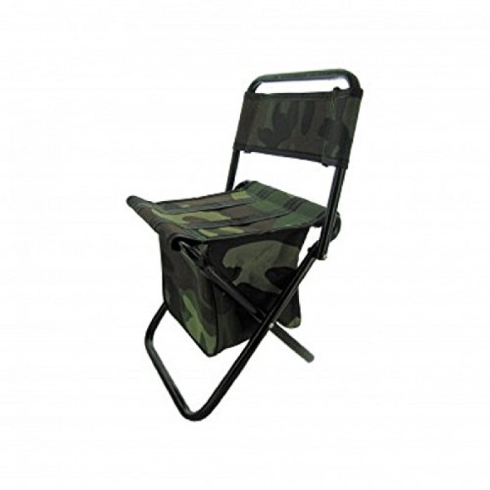 GeeksHive Camouflage Camping Stool Chair with Zippered Gear Pouch Youth Si