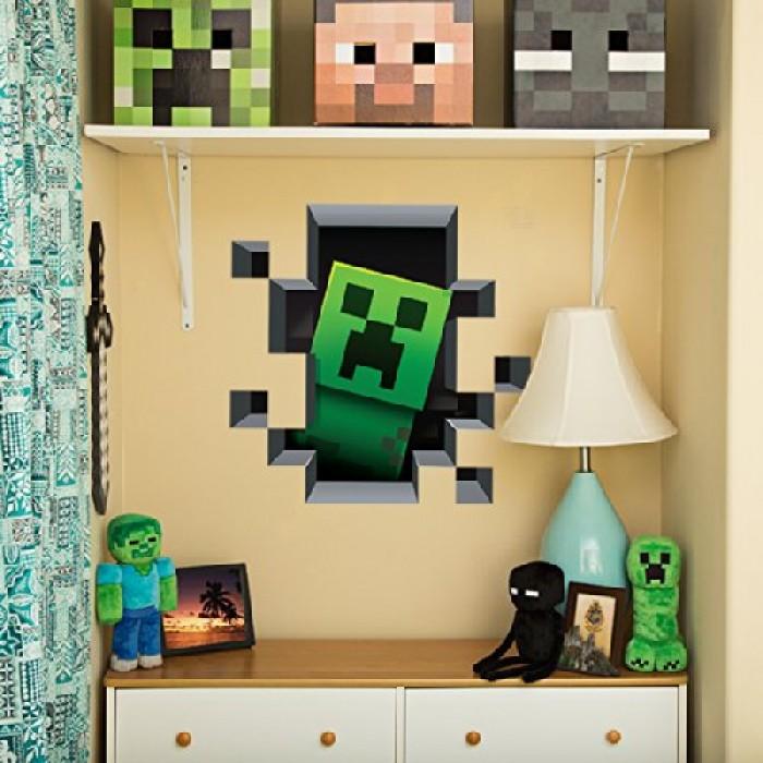 GeeksHive: Minecraft Vinyl Wall Graphics Creatures 4-Pack