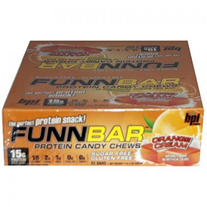 Chocolate Orange Creams Dunmore Candy Kitchen: GeeksHive: BPI FunnBar Protein Candy Chews Orange Cream 12