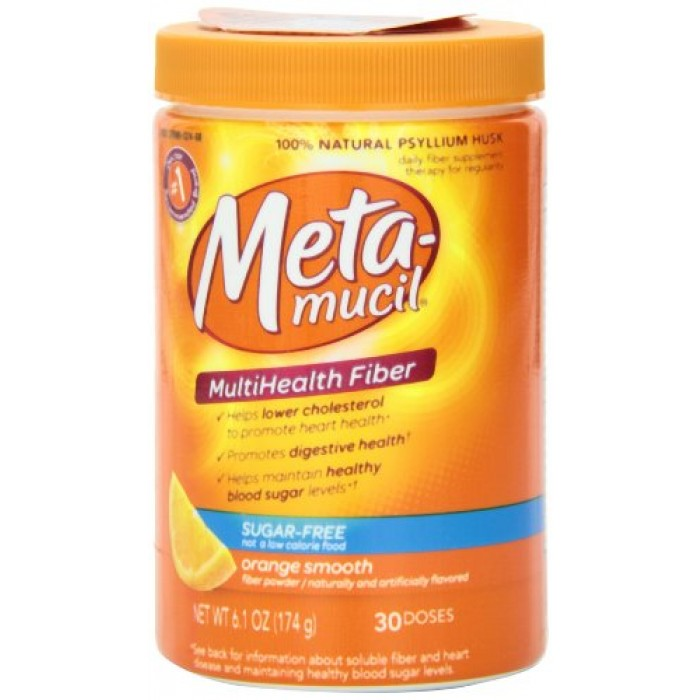 Metamucil Daily Fiber Supplement Orange Smooth Sugar