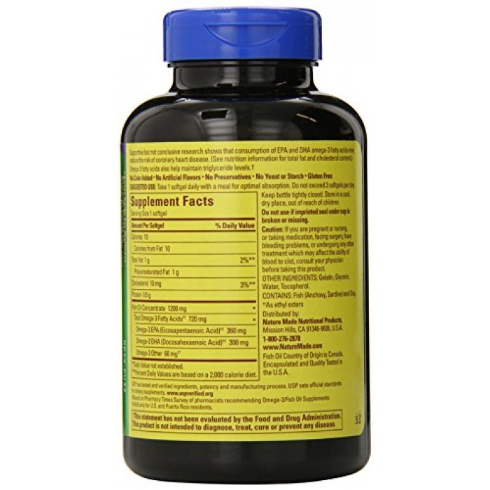 Geekshive nature made one a day fish oil 1200mg 120 for How much fish oil a day