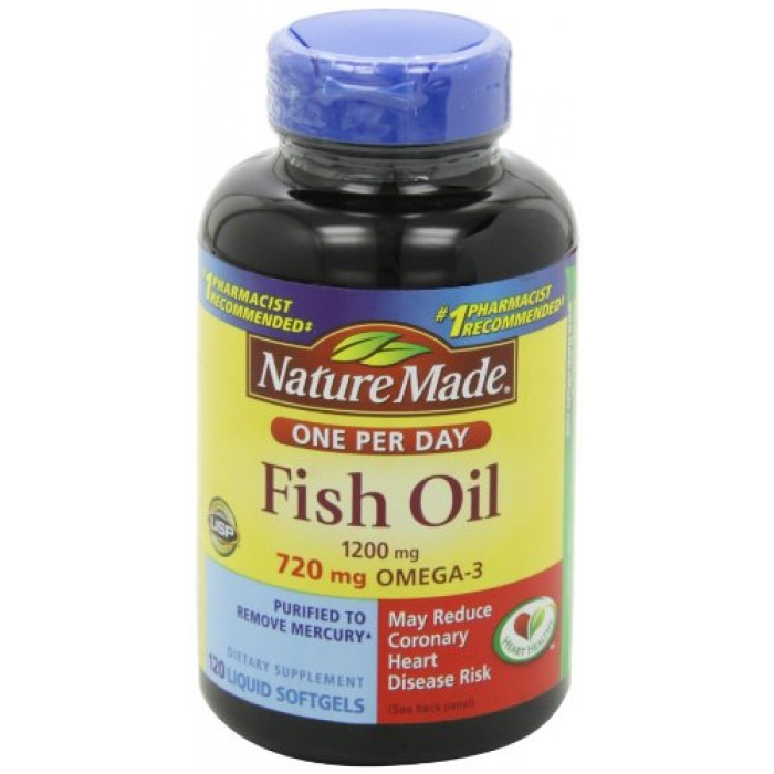 Geekshive nature made one a day fish oil 1200mg 120 for Fish oil vitamins