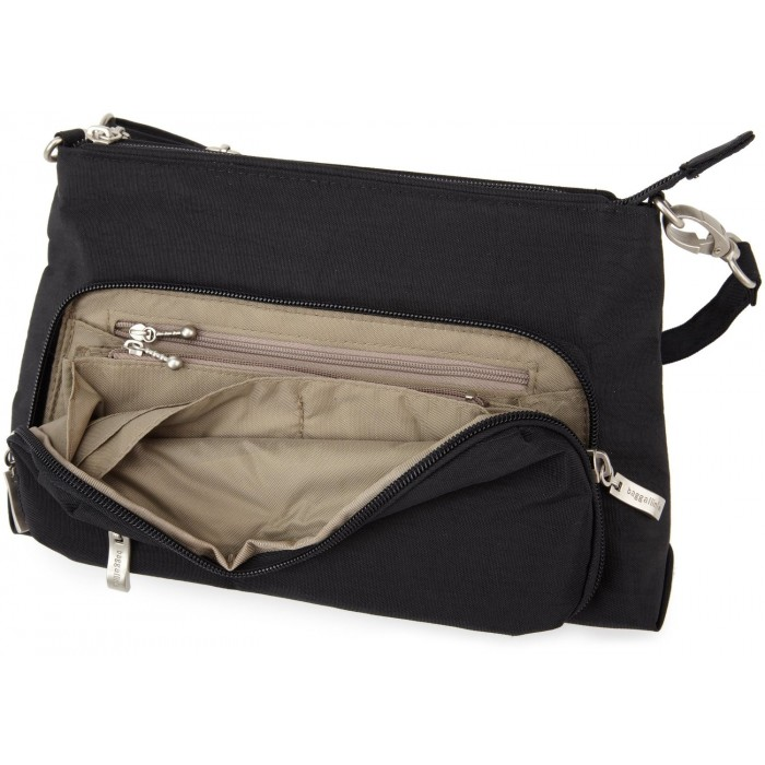 GeeksHive  Baggallini Everyday Bagg - Black with Sand Lining - Cross ... 343d6fd067057