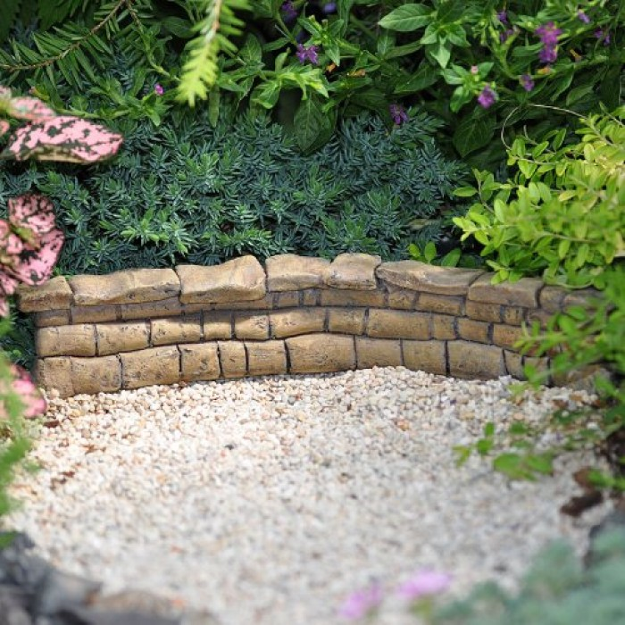 Geekshive miniature fairy wall for gardens wall for Fairy garden wall mural