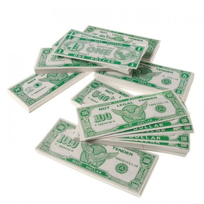 Toy Money 100 : Geekshive paper play money bills per package