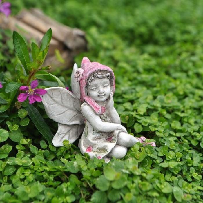 Geekshive miniature garden fairy kathy outdoor statues garden sculptures statues - Garden fairy statues ...