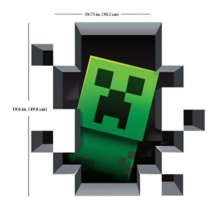 geekshive minecraft vinyl wall graphics creatures 4 pack 3d wall stickers wall decals minecraft pvc wall stickers