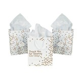 Fun Express Thank You For Sharing Our Day Wedding Thank You Gift Bags - 12 Pieces