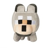 "JINX Minecraft Happy Explorer Untamed Wolf Plush Stuffed Toy Grey, 5.5"" Tall"
