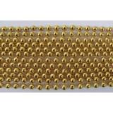 Round Metallic Gold Mardi Gras Beads - 6 DZ (72 necklaces) - PA