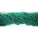 Round Metallic Green Mardi Gras Beads - 6 DZ (72 necklaces) - PA