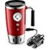 Tech Tools Heated Travel Mug Retro Style - Stainless Steel 12 Volts (Red)