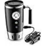 Tech Tools Heated Travel Mug Retro Style - Stainless Steel 12 Volts (Black)