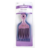 Conair  3 Count Pro Styling Hair Lift Combs 7402112