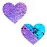 Neva Nude Jasmine Lilac & Turquoise Sequin I Heart U Nipztix Pasties Nipple Covers