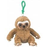 "Wildlife Artists Sloth Plush Backpack Clip Toy Keychain 5.5"" Stuffed Sloth, Kids Stuffed Animals"