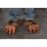 Zagone Werewolf Feet w/ Brown Fur Deluxe Adult Halloween Costume Accessory