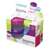 Sistema Pots to Go Dressing, Pack of 4