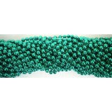 Round Metallic Green Mardi Gras Beads - 6 DZ (72 necklaces)