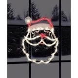 Impact Innovations Christmas Lighted Window Decoration, Santa Face