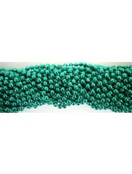 Round Metallic Green Mardi Gras Beads - 6 DZ (72 necklaces) - PA