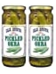 Old South Mild Pickled Okra 16 Oz Jar (2 Pack)