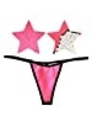 Neva Nude Naughty Knix Bitchin' Blacklight Flip Sequin G-String Thong With Matching Nipztix Pasties